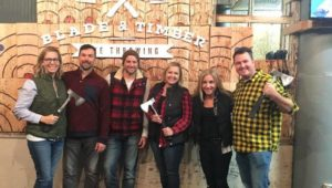 Bury the hatchet with us at Blade and Timber Axe Throwing